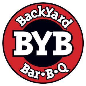 Backyard Bar-B-Q Logo. BYB BBQ Lansing and Okemos Michigan.